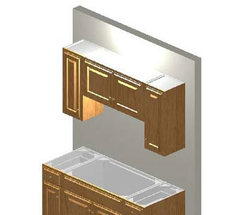 Complete 5ft All Wood Kitchen Cabinet System With Dark