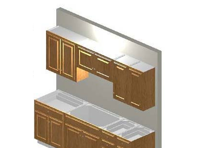 Complete 8ft all wood kitchen cabinet system with for Complete kitchen cabinet packages