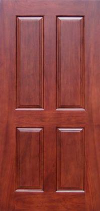 High quality solid wood mahogany 4 panel interior door for Good quality interior doors