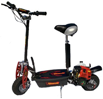 49cc stand up sit down 4 stroke gas scooter for Stand on scooters with motor
