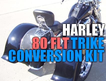 Harley Davidson 80 FLT Motorcycle Trike Conversion Kit