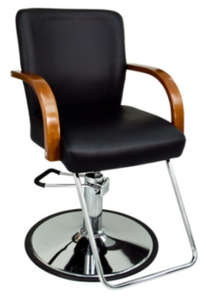 Fantastic Black Leather Hydraulic Barber Chair With Wooden Arm Rests Gmtry Best Dining Table And Chair Ideas Images Gmtryco