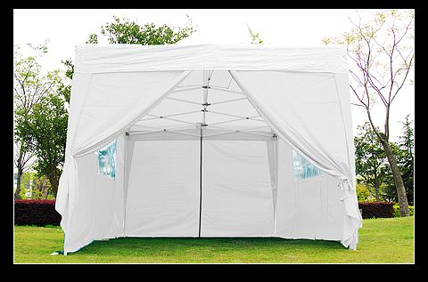 10x15 White Easy Set Pop Up Party Tent Canopy Gazebo
