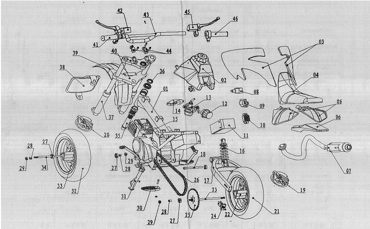 500 And 700 Watt Electric Scooter Schematic Diagram: Pocket Bike Engine Diagram At Gundyle.co