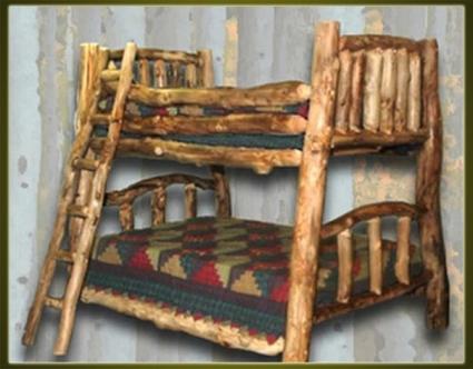 Brand New Rustic Furniture Custom Log Bunk Bed