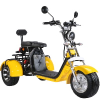 2000W Electric 3 Wheel Fat Tire Scooter Trike Harley Chopper Style