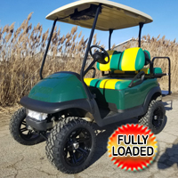 48 Volt Custom PackWay Golf Club Car Precedent Golf Cart With SS Wheels, Lights, Radio, Rear Flip