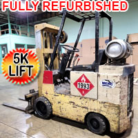 Allis Chambers Forklift 5,000 Lift Cap. Heavy Duty Gas Forklift With 9.800 Hrs.
