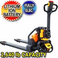 "Full Electric Lithium Pallet Jack 2640 lbs Capacity 48"" x 27"" - CBD12W-Li"