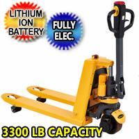 "Full Electric Lithium Pallet Jack 3300 lbs Capacity 48"" x27"" - CBD15"