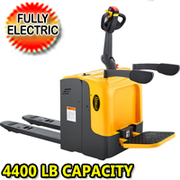 "Full Electric Standing-on Riding Pallet Truck - 4400lbs Capacity 48"" x 27"" Fork - CBD20R-II"