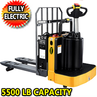 "Full Electric End Control Pallet Truck - 5500lbs Capacity - 48"" x27"" Fork - CBD25T"