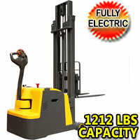 "Counterbalanced Fully Electric Pallet Stacker 1212lbs - 118"" High- CPD05W"