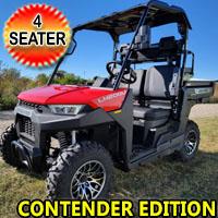 200cc Crossfire UTV Gas Golf Cart With Rear Flip Seat & Dump Bed - Contender Edition