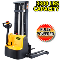 "Fully Powered Straddle Stacker 3300lbs Capacity 98""/118"" lifting - CTD15RE"