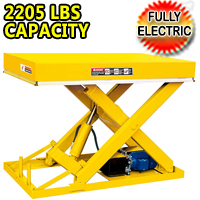 "Electric Stationary Lift Table 2205 lbs Capacity - 39"" Lifting Height - DG03"