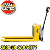 "Electric High Lift Truck 2200lbs Capacity 49""L x 21""W Fork - JFD8"