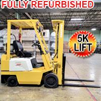 Komatsu Forklift 5,000 Lift Cap. Heavy Duty Gas Forklift With 3,900 Hrs