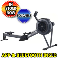 Air Rowing Machine Fitness Indoor Rower With Performance Monitor & Bluetooth - New Model A