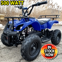 Kids Atv 500 Watt Electric Atv Kids Quad - Mud Runner - Blue