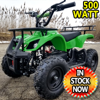 Kids Atv 500 Watt Electric Atv Kids Quad - Mud Runner - Green