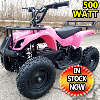 Kids Atv 500 Watt Electric Atv Kids Quad - Mud Runner - Pink