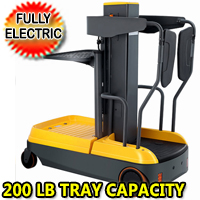 Fully Electric Mini Order Picker With Dock Capacity 330lbs - OPSM