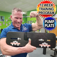 Brand New Pump Plate Big Arm Builder Exercise Program #1 Gain Up to An Inch On Your Biceps & Triceps Quick!
