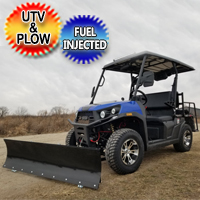 Rancher Rover UTV With Snow Plow 200 EFI Gas Golf Cart Utility Vehicle UTV With Automatic Trans. & Reverse