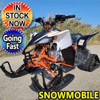 Brand New Junior Snowmobile 125cc Kayo Snow Husky 125 Automatic Snow Mobile