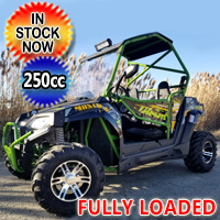 250cc Avenger Gas Golf Cart UTV Utility Vehicle w/ Windshield Oversized Tires & Custom Rims/Suspension - UV-29-250