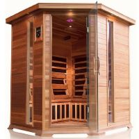 Bristol Bay 4 Person Infrared Corner Cedar Sauna