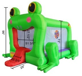 Frog Inflatable Bounce House Bouncy House W Blower