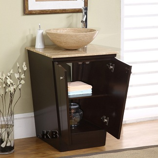 High Quality 22 Bathroom Vanity Cabinet With Vessel Stone