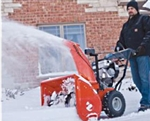"Brand New Platinum 24 Electric Start Snow Blower with 24"" Clearing Width"