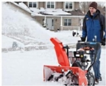 "Brand New Deluxe 28 Electric Start Snow Blower with 28"" Clearing Width"