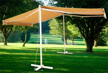 Free Standing Motorized Double Sided Retractable Awning W