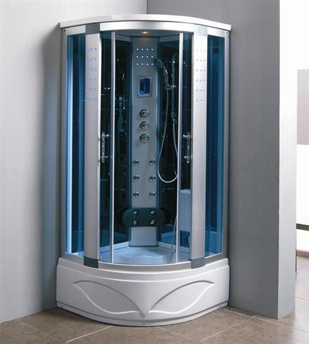 Brand New Comforting Corner Shower Room With Massage Jets