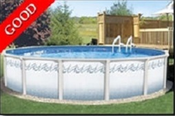 Above ground swimming pool Modern Saferwholesale Atlantis 12 Round 48