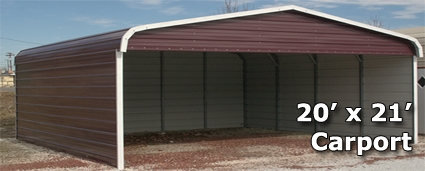 20 39 X 21 39 Metal Carport Cover With 3 Sides Installation
