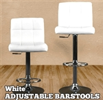 High Quality Adjustable Height Padded Bar Stools - Set of 2