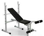 Adjustable Flat Incline Weight Bench w/ Leg Curl