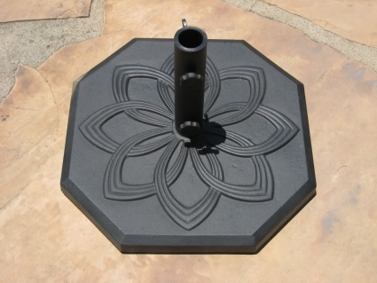 """high quality 19"""" powder coated 33 lbs wrought iron umbrella base Wrought Iron Umbrella Base"""