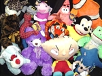Licensed/Generic Mix Jumbo Plush Toys For Crane Machine - 96 Pieces