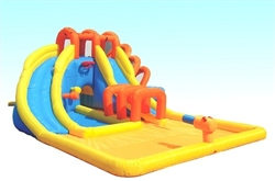 Inflatable Triple Blast Water Park with Slides