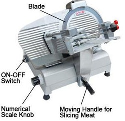 "Electric Food Slicer Deli Meat Cutter with 12"" Blade"