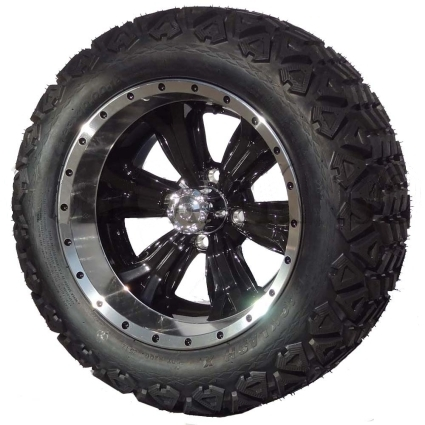 "Tire Wholesale Warehouse >> 14"" Golf Cart Tire/Wheel Package Combo with Lift Kit. Fits EZGO TXT 94-01."