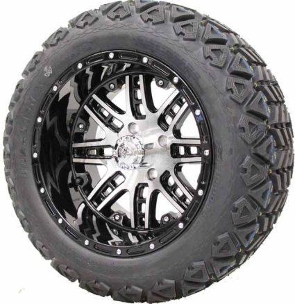 14 Lifted Golf Cart Tire Wheel Package Combo With Lift Kit Fits Club