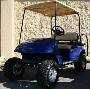 Ez Go Lifted Blue 36 Volt Electric Golf Cart