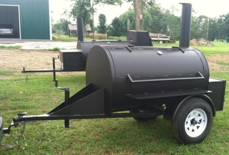 10 Custom Bbq Reverse Flow Barbecue Smoker With Trailer